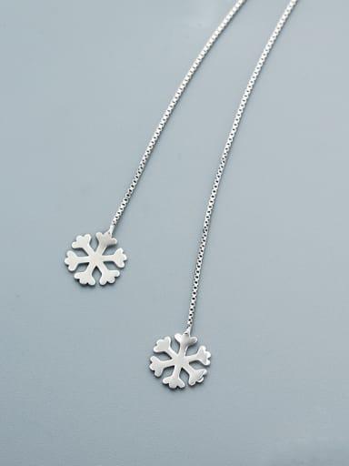 Women Exquisite Snowflake Line Earrings