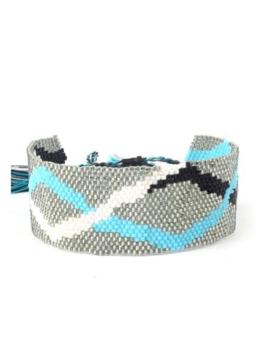 Glass Beads Woven Women Western Bracelet
