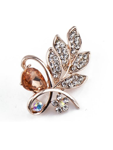 2018 2018 2018 2018 Rose Gold Crystals Brooch