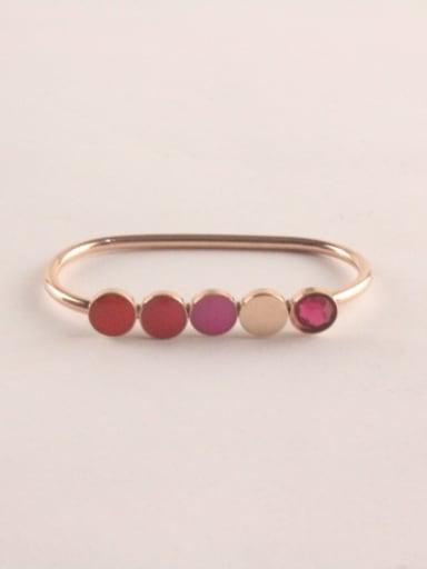 Colorful Glue Fashion Titanium Ring