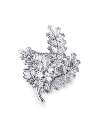 Flower Zircon Brooch
