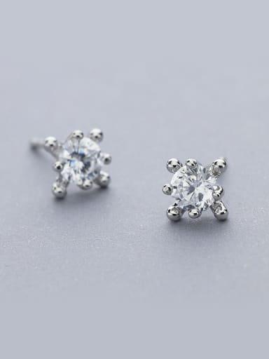 Women Delicate Geometric Zircon stud Earring