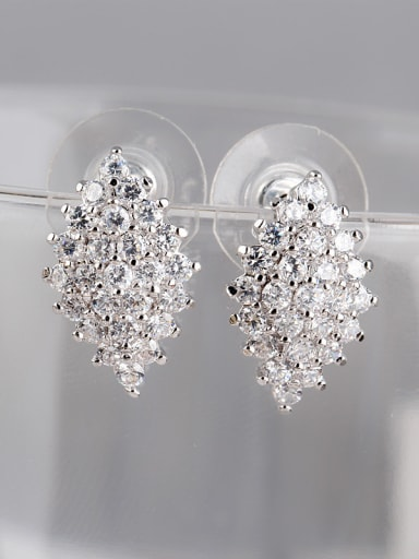 Diamond Quality Zircon Exquisite Dinner Cluster earring