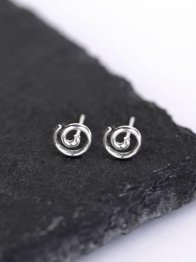 Simple Tiny Silver Stud Earrings