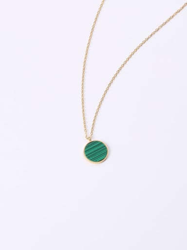 Titanium With Gold Plated Simplistic Round Necklaces