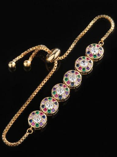 Copper With  Cubic Zirconia Trendy Round Bracelets
