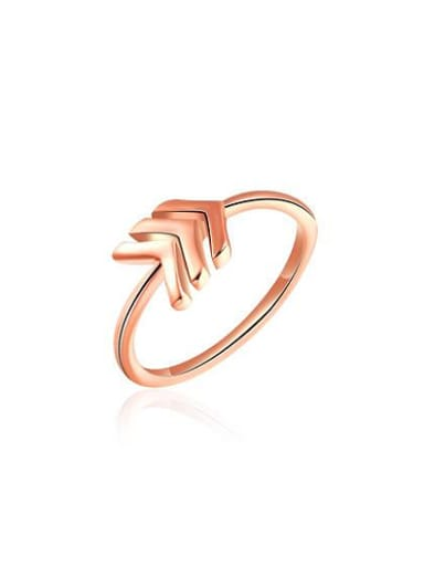 Exquisite Rose Gold Plated Arrow Shaped Ring