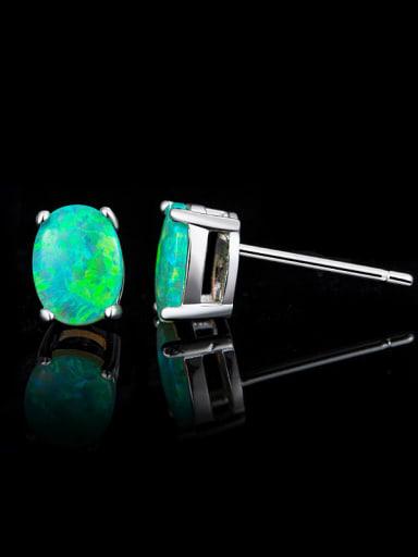 Green Opal Stone stud Earring