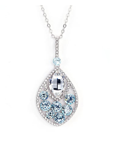 Water Drop Shaped Crystal Necklace