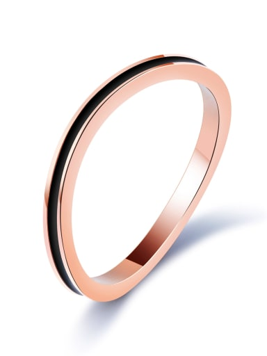 Stainless Steel With Rose Gold Plated Fashion Irregular Band Rings