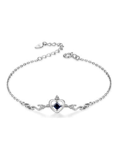 Platinum Plated Heart-shape Accessories Women Bracelet