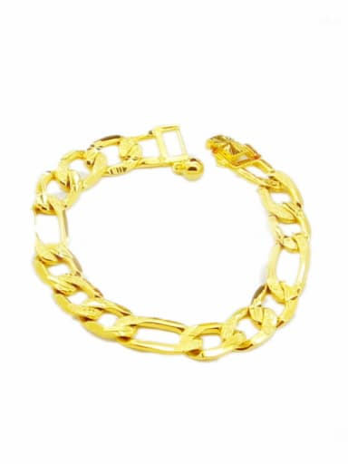 Personality 24K Gold Plated Hollow Geometric Shaped Bracelet