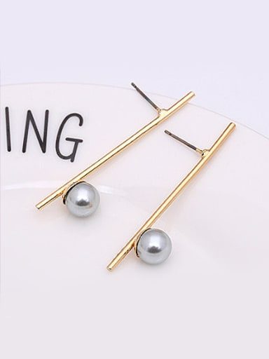 Personality Grey Artificial Pearl Stud Earrings