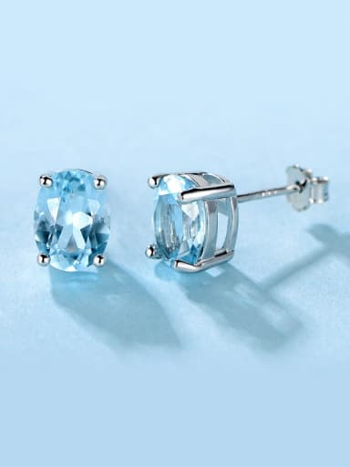 Sky Blue Zircon stud Earring