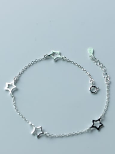 Fresh Adjustable Star Shaped S925 Silver Foot Jewelry
