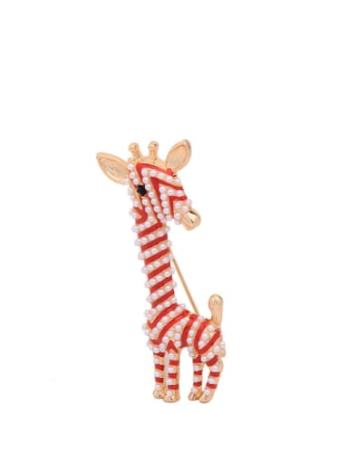 Fashion Cute Deer Artificial Pearls Brooch