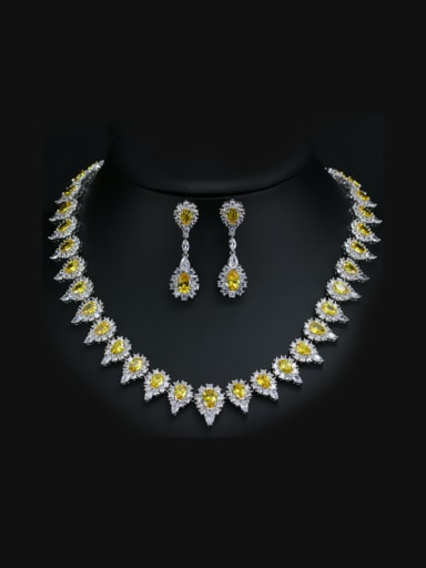 Wedding Party Water Drop Two Pieces Jewelry Set