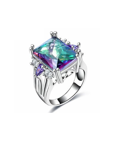 Creative Colorful Glass Bead Women Ring