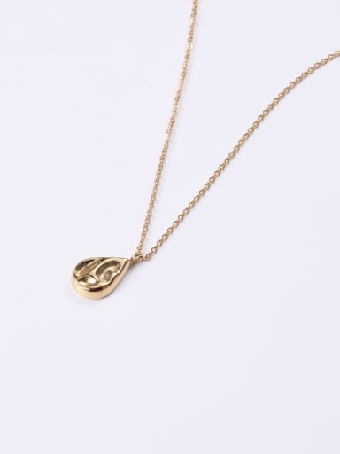 Alloy With Rose Gold Plated Simplistic Water Drop Necklaces