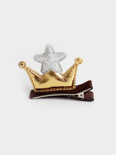 PU Crown Hair clip