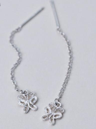 Elegant Butterfly Shaped S925 Silver Drop Earrings