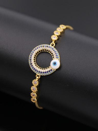 Zircon Round Adjustable Bracelet