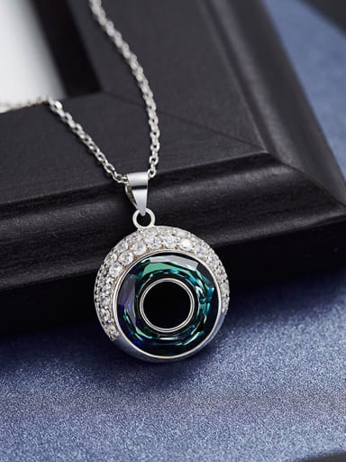 S925 Silver Round Shaped Necklace