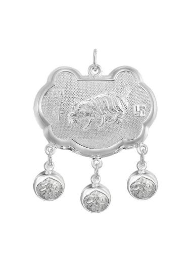 Ethnic style Zodiac Sheep Children Longevity Lock Pendant