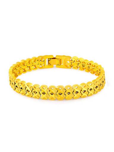 Creative 24K Gold Plated Number Eight Design Bracelet