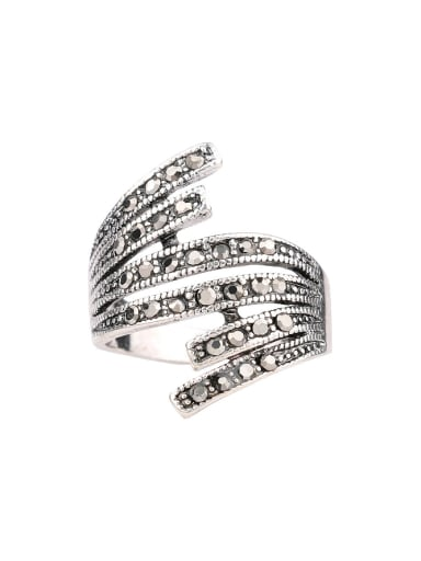 Personalized Exaggerated Cubic Crystals Alloy Ring