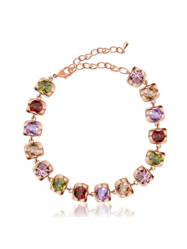 AAA zircon Color Fashion simple generous Bracelet