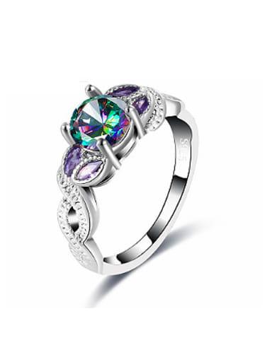 Tree Vine Shaped Glass Beads Ring