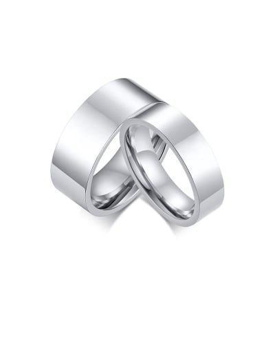 Stainless Steel With Platinum Plated Simplistic Round Men Rings