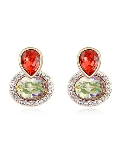 Fashion Shiny Swarovski Crystals-accented Alloy Stud Earrings