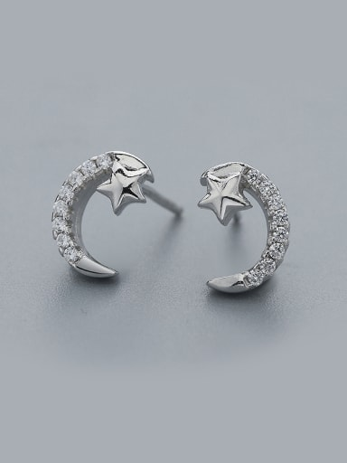 Temperament Star And Moon cuff earring
