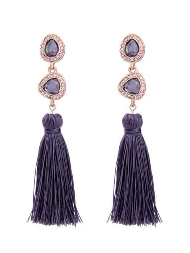 Elegant national Tassel Drop Chandelier earring