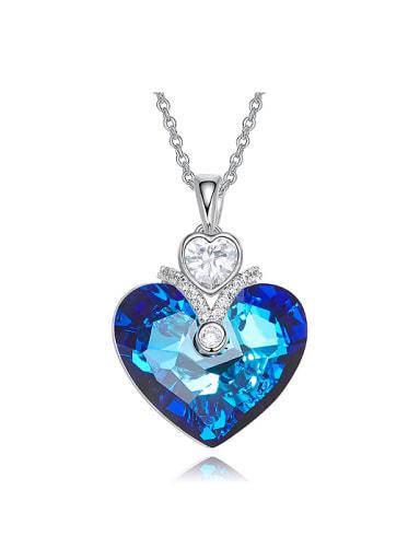 Fashion Heart Swarovski Crystal Copper Necklace