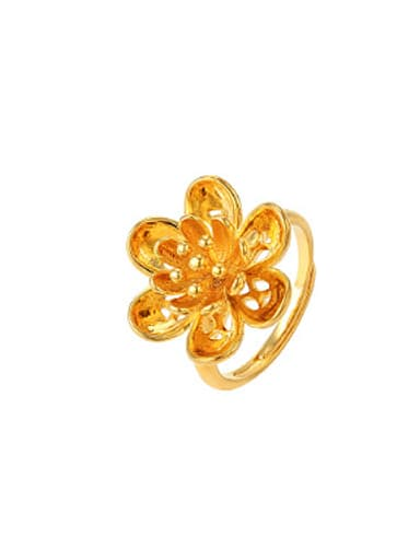 Ethnic style Flower Opening Ring