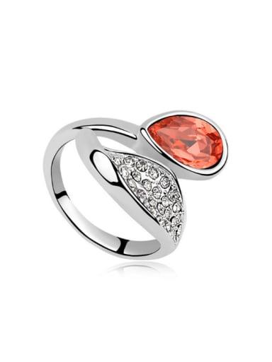 Fashion Shiny Swarovski Crystals Alloy Ring