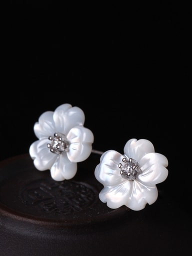 Beautiful Flower-shape Stud Earrings