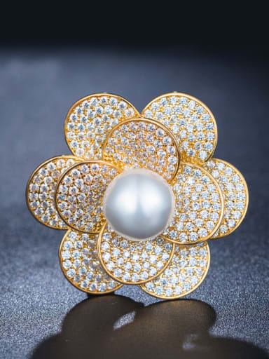 Gold Plated Pearl Corsage