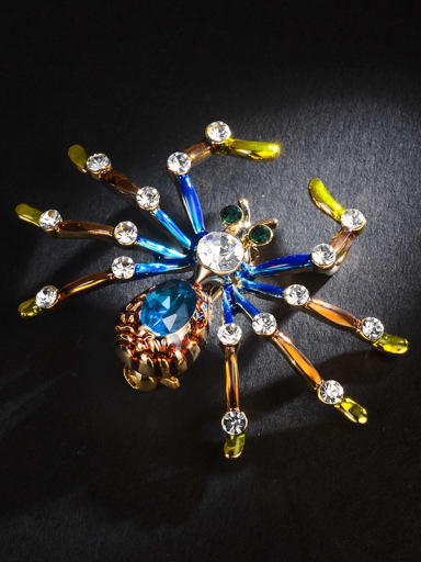 Alloy With 18k Gold Plated Trendy Insect spider Brooches