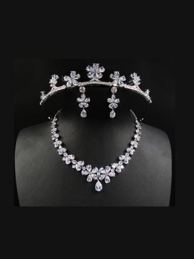 Three Pieces Jewelry Women Fashion Wedding Hair Accessories
