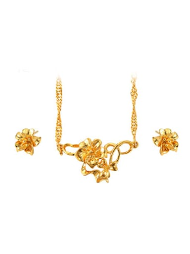 Ethnic style Flowery Two Pieces Jewelry Set