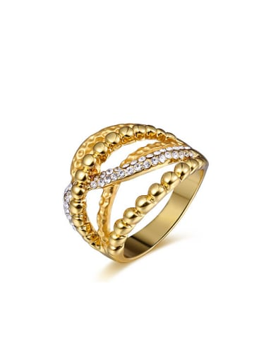 Fashion Multi-layer Gold Plated Alloy Ring