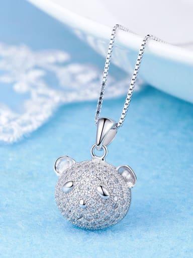Lovely 925 Silver Bear Pendant