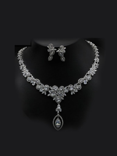 2018 Wedding Party Luxury Two Pieces Jewelry Set