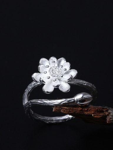Lotus Flower-shape Opening Ring