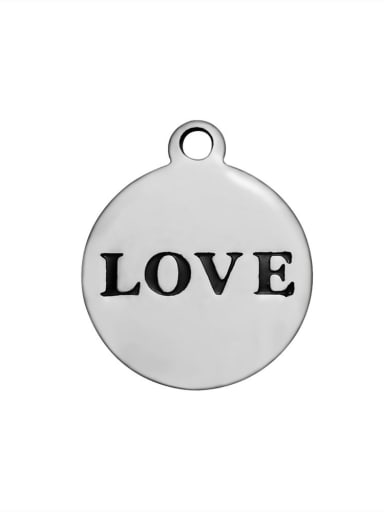 Stainless Steel With  round with love words Charms