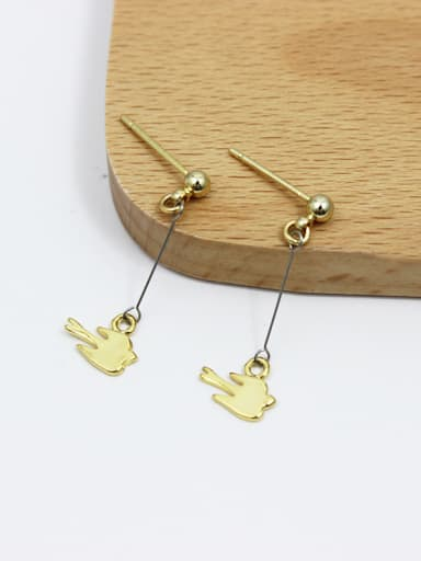 Creative 16K Gold Plated Swallow Shaped Earrings
